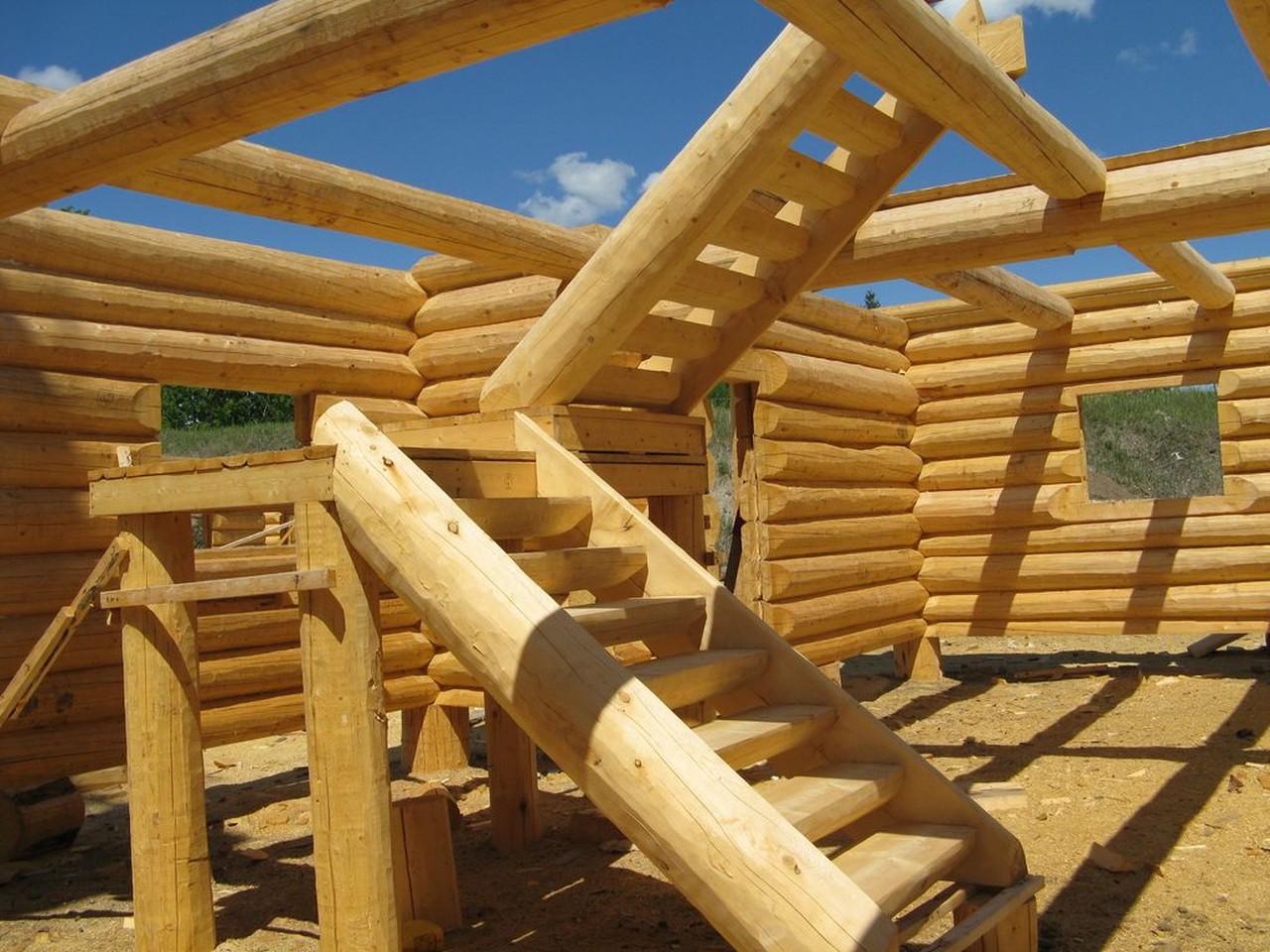 Деревянные лестницы своими руками рубленные